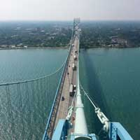 Ambassador Bridge cables receive LED makeover
