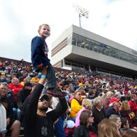 JRE celebrates energy at CMU football game