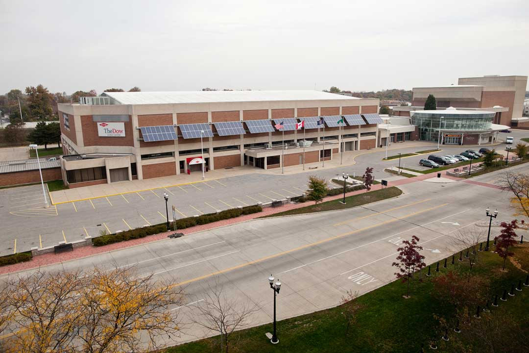 Dow Event Center Awning Saginaw Mi J Ranck Electric