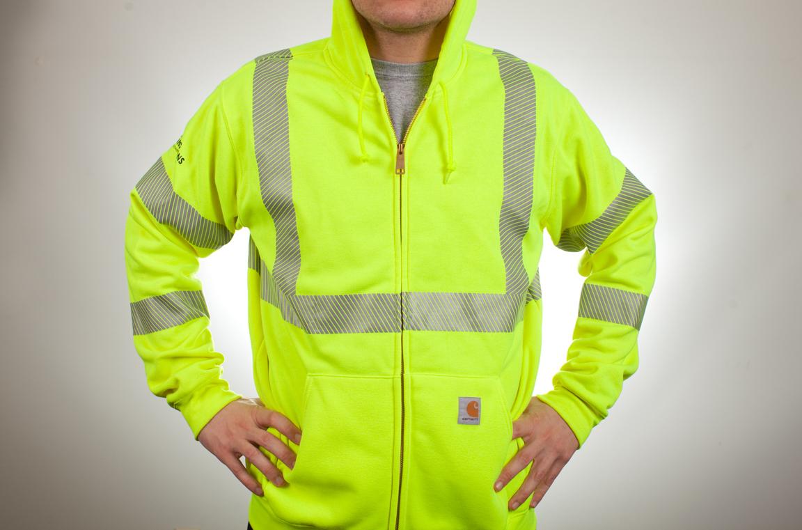Carhartt High Visibility Front Zip Class 3 Sweatshirt J