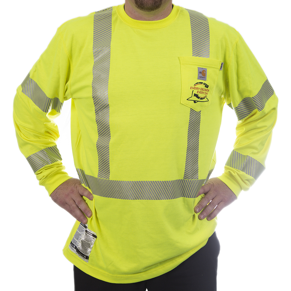 Carhartt Fr High Visibility Long Sleeve Work Shirt J Ranck Electric